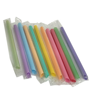 Large Jumbo Bubble Tea Boba Straws, Individual Wrapped Bubble Tea Straws - 1000
