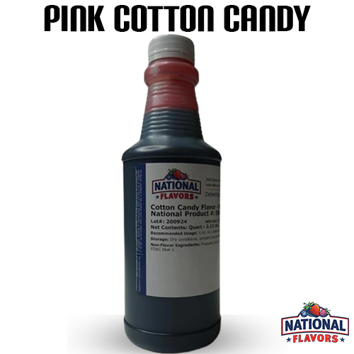 Pink Cotton Candy Flavor 32 oz Bottle
