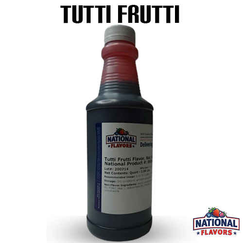 Tutti Frutti Flavor 32 oz Bottle