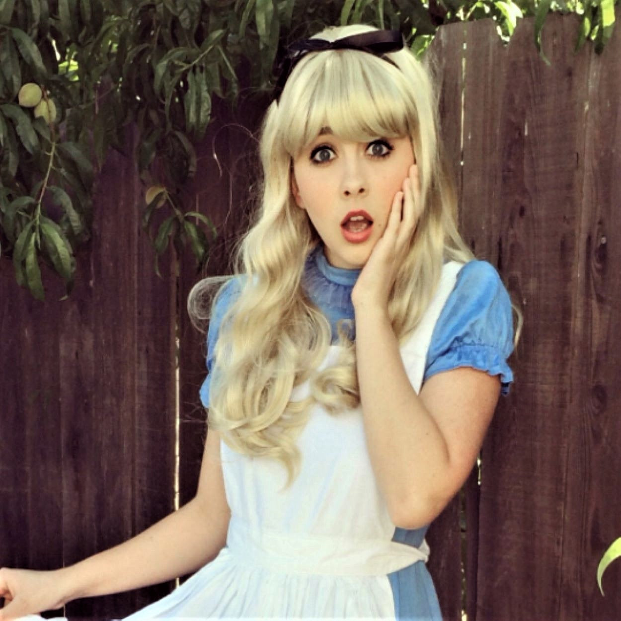 Alice Wonderland Blonde Bang Costume Cosplay  Wig