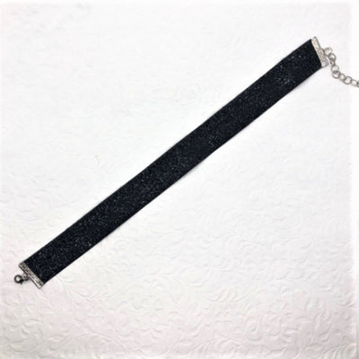 Cinderella Sparkle Black Velvet Ribbon Choker - Royal Enchantments
