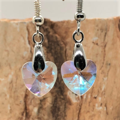 Crystal Heart Pendant Earring Set - Royal Enchantments