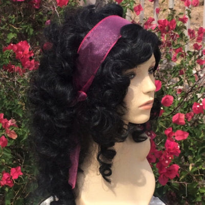 Esmeralda Gypsy Curly Black Wig - Royal Enchantments