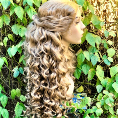 Phantom Meg Blonde Curly Broadway Theater Lace Front Wig - Royal Enchantments