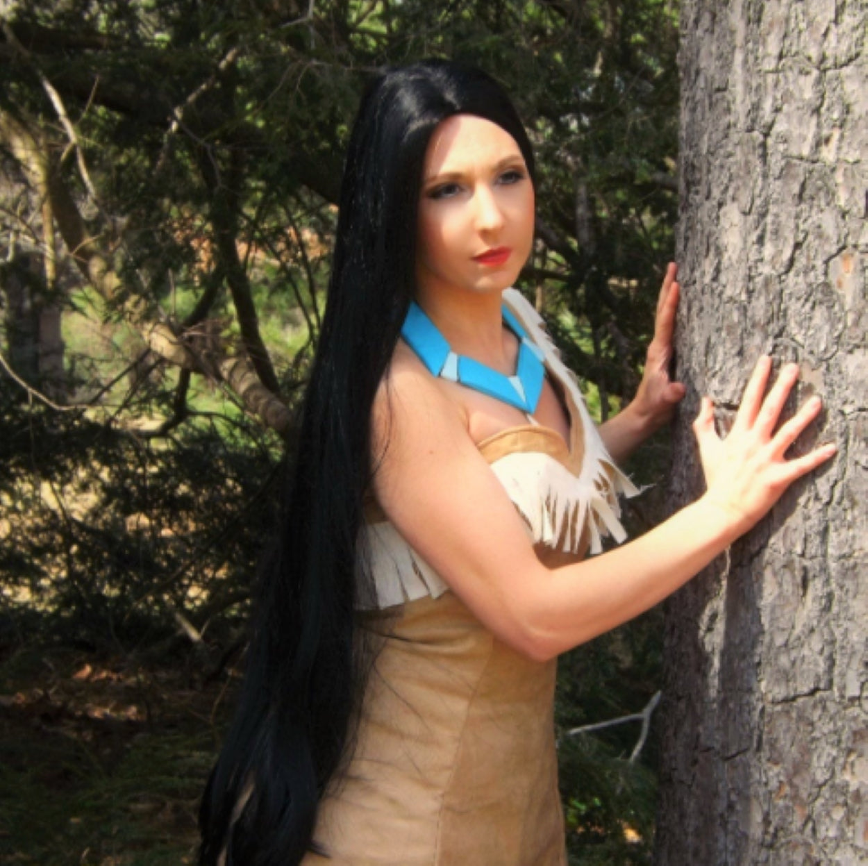 Pocahontas Princess Long Black Wig