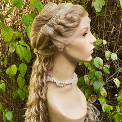 Renaissance Lucrezia Borgia Historical Curly Lace Front Wig - Royal Enchantments