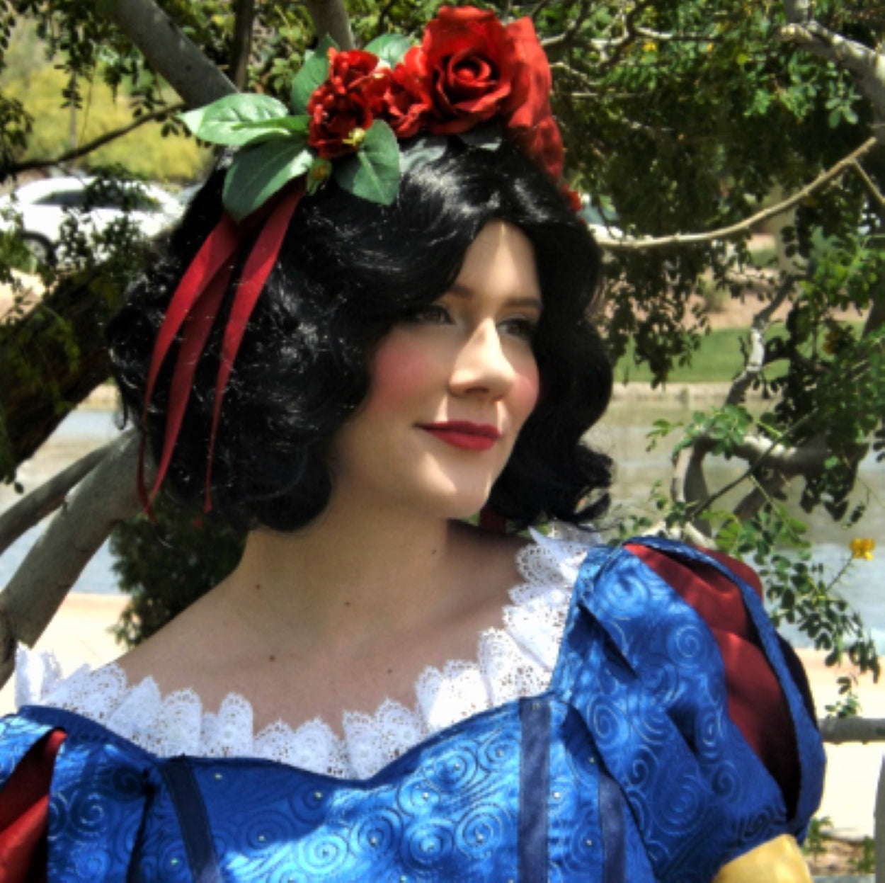 Snow White Inspired Black Curly Bob Wig