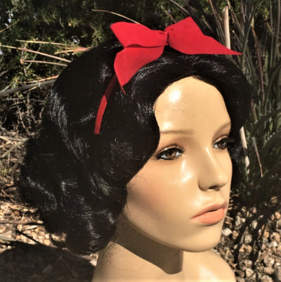 Snow White Inspired Black Curly Bob Wig - Royal Enchantments