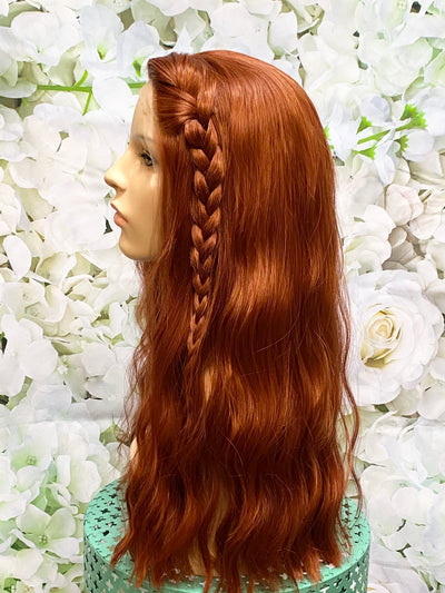 Black Widow Inspired Movie Auburn Braided Costume Cosplay Wig - Royal Enchantments