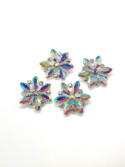 Snow Queen Crystal Rhinestone Snowflake Hair Pins - Royal Enchantments