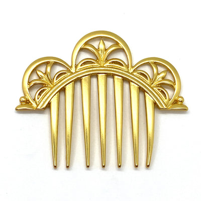 Frozen Anna Coronation Comb Goldtone Metal Hair Comb Crocus - Royal Enchantments