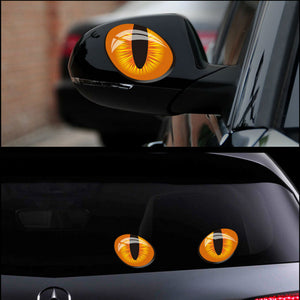 2pcs 12*10cm Cat Eyes Sticker