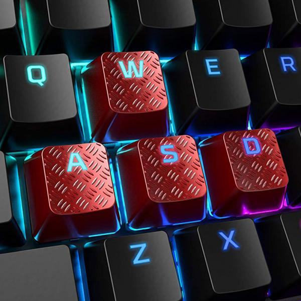 HyperX FPS & MOBA Gaming Keycaps Upgrade Kit (Red) (Compatible, Non-proprietary)