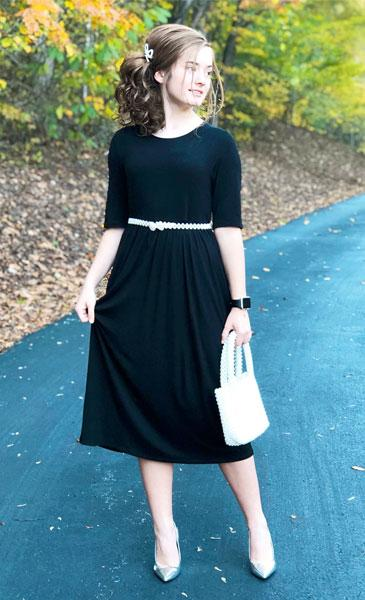 Half Sleeve Midi Dress |  | Dress | Modest Fashion