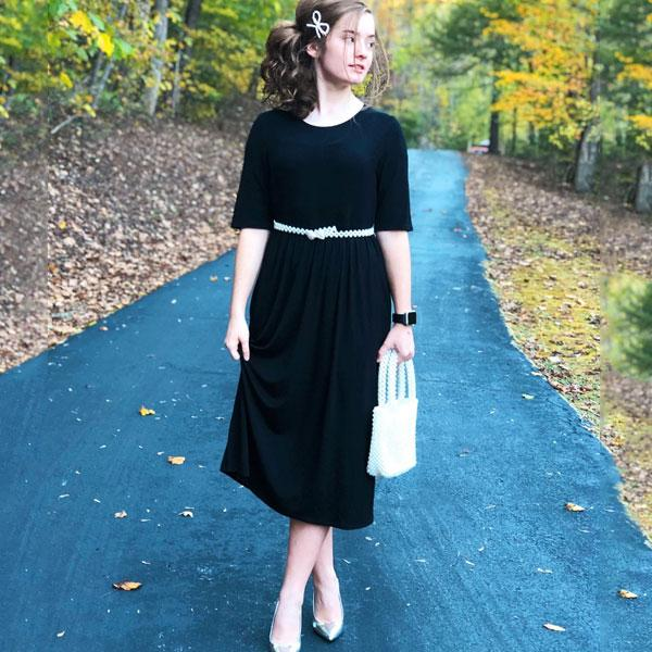 Half Sleeve Midi Dress