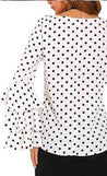 Tops - Ruffled Polka Dot Top