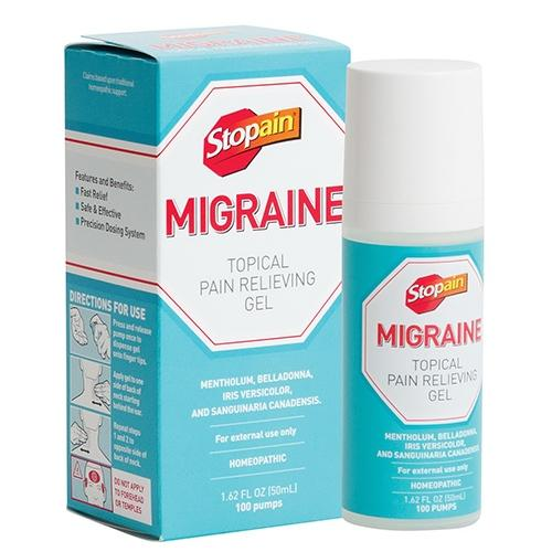 Stopain Migraine Topical Pain Relieving Gel