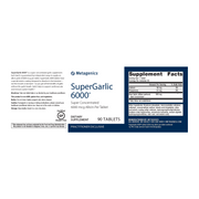 SuperGarlic 6000® <br>Super Concentrated 6000 mcg Allicin Per Tablet