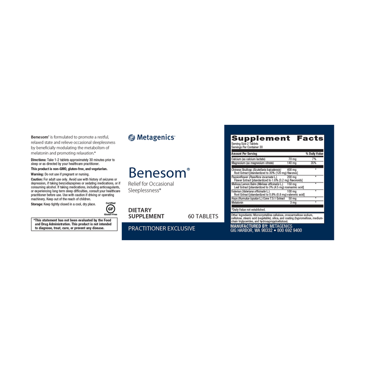 Benesom® <br>Relief for Occasional Sleeplessness*