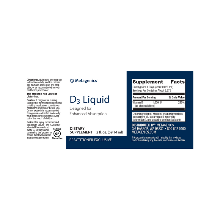D3 Liquid <br>Designed for Enhanced Absorption