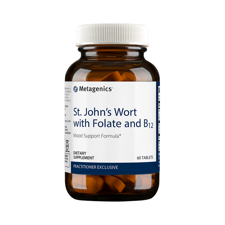 St. John's Wort with Folate and B12 <br>Mood Support Formula*