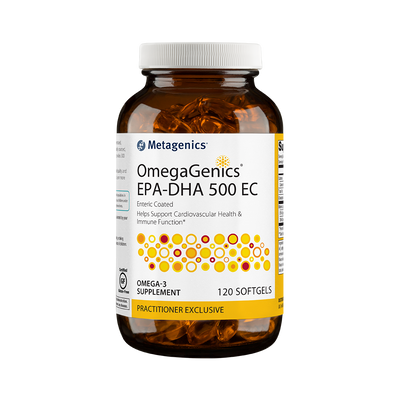 OmegaGenics® EPA-DHA 500 EC <br>Enteric Coated Helps Support Cardiovascular Health & Immune Function*