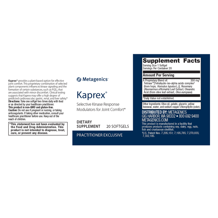 Kaprex® <br>Selective Kinase Response Modulators for Joint Comfort*