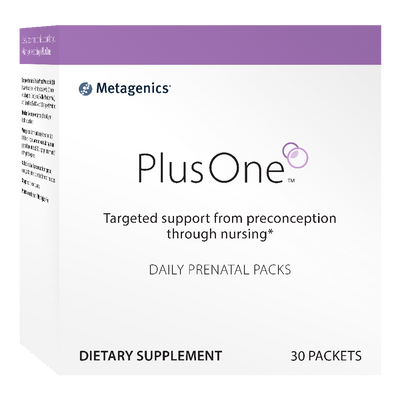 PlusOne™ Daily Prenatal Packs <br>Targeted support from preconception through nursing*