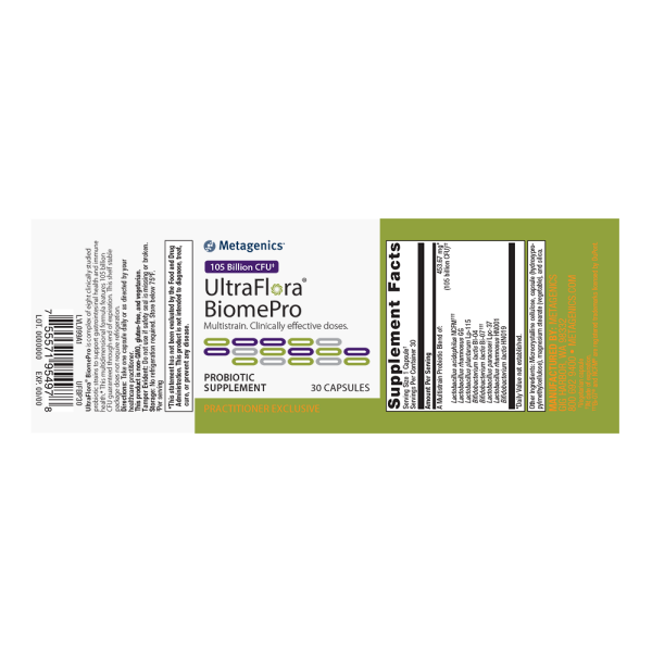 UltraFlora® BiomePro <br>Multistrain. Clinically effective doses.