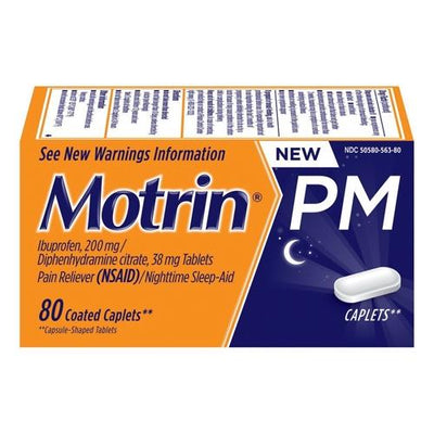 Motrin Pm Ibuprofen 200 Mg Pain Reliever And Nighttime Sleep-Aid