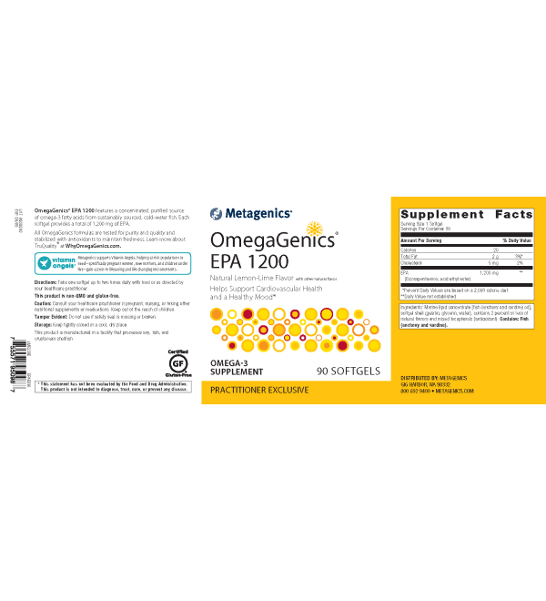 OmegaGenics® EPA 1200 <br>Helps Support Cardiovascular Health and a Healthy Mood*