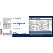 Multigenics® <br>Optimum Multiple Vitamin/Mineral Formula Fast-Release Tablet