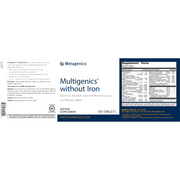 Multigenics® without Iron <br>Optimum Multiple Vitamin/Mineral Formula Fast-Release Tablet