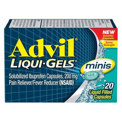 Advil Liquid Gels Minis, Pain Reliever And Fever Reducer