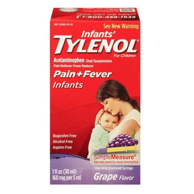 Infants Tylenol Oral Suspension, Fever Reducer and Pain Reliever