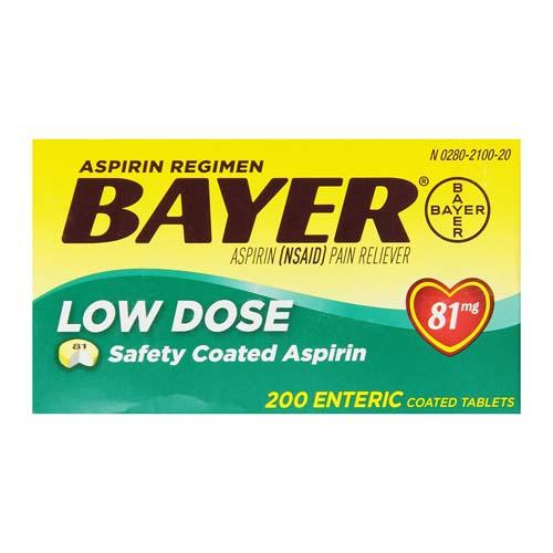 Bayer Regimen Tablets, Adult Low Strength Aspirin Pain Reliever