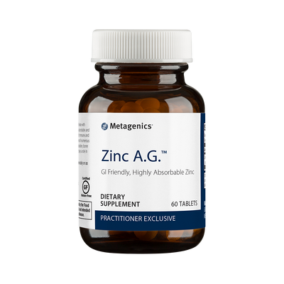 Zinc A.G.™ <br>GI Friendly, Highly Absorbable Zinc