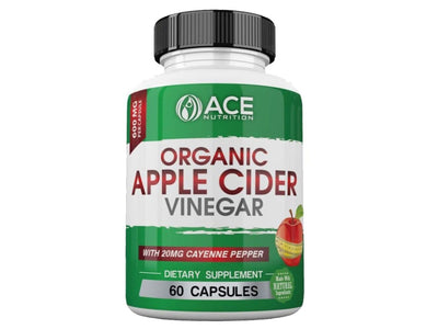 Apple Cider Vinegar Capsules 600 mg with Cayenne Pepper - 60 Capsules