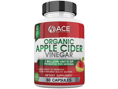 Organic Apple Cider Vinegar Capsules (1000 mg) with Probiotics (1 Billion Units)