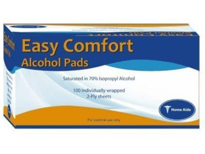 Home Aide Alcohol Prep Pads - 100 Pads