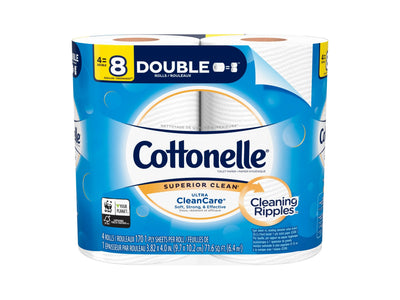 Cottonelle UltraClean Toilet Paper 4 Double Rolls
