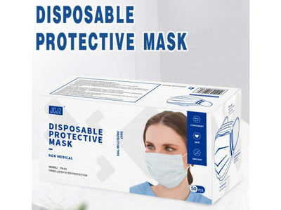 Disposable Protective Face Covering 50Ct