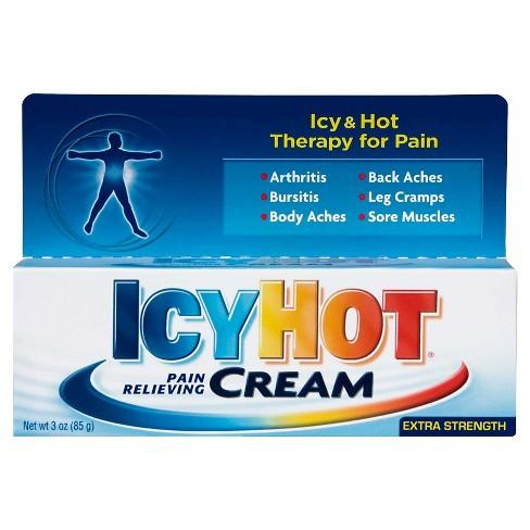 Icy Hot Rub Tube Extra Strength Pain Relieving Cream