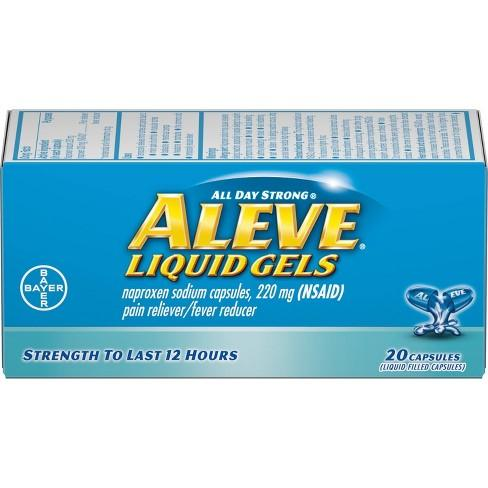 Aleve All Day Strong Pain Reliever And Fever Reducer Liquid Gels