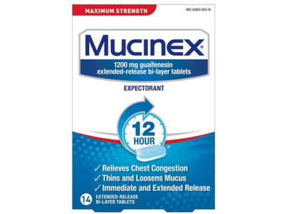 Mucinex Max Strength ER 1200 MG - 14 Tablets