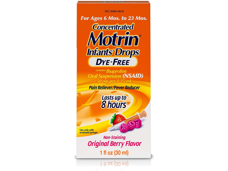 Infants' Motrin (Ibuprofen) Concentrated Liquid Medicine Drops, Berry - 1 fl. oz