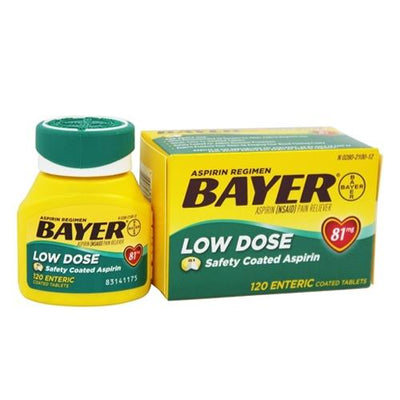 Bayer Low Dose Safety Coated Baby Aspirin