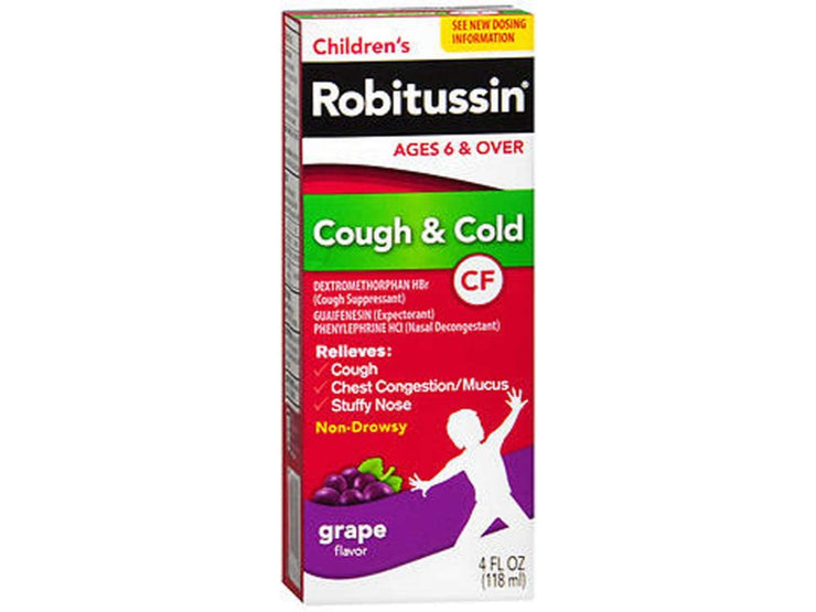 Robitussin Children's Cough and Cold Relief Syrup 4 oz.