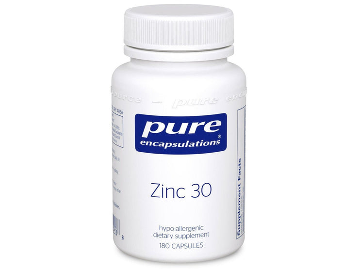 Zinc 30 mg (60 and 180 capsules)