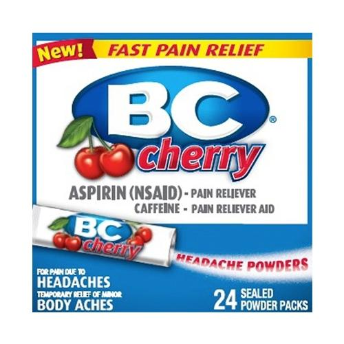 BC Headache Powder Packets - Cherry Flavored